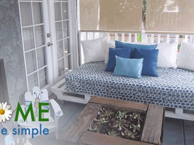 How to Make A Loveseat Out of Pallets | Home Made Simple | Oprah Winfrey Network