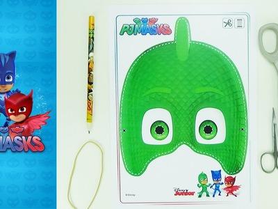 How to make a mask Gekko   PJMASKS   Easy crafts for kids