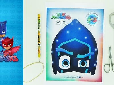How to make a mask Ninja night | PJMASKS | Easy crafts for kids