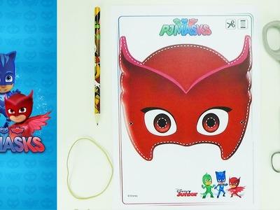 How to make a mask Owlette | PJMASKS | Easy crafts for kids