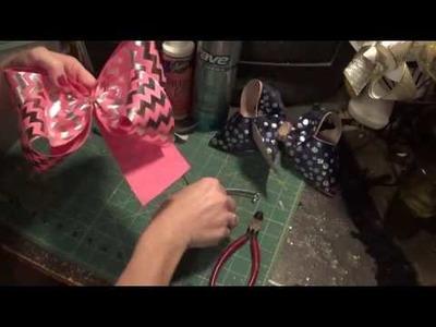 How to make a mega size hair bow plus a few bow tricks.