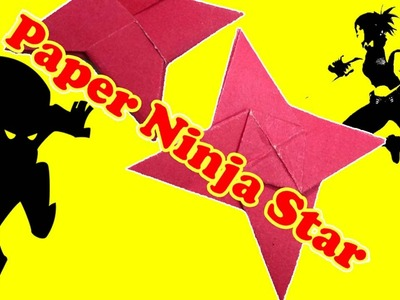 How to make a Paper Ninja Star Easy ★ 4 Pointed Paper Star ★ Origami Star
