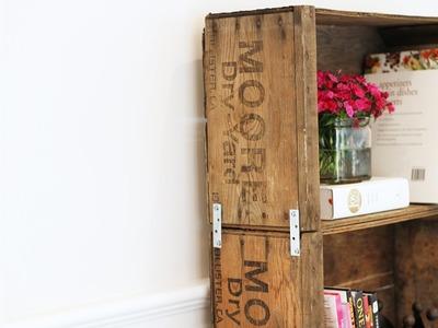 How to Make a Rolling Crate Bookshelf- HGTV Handmade