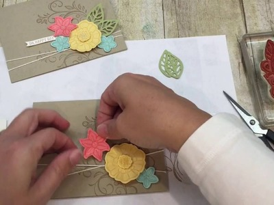How to make a simple Falling Flowers Card