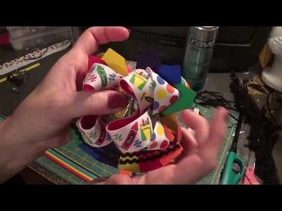 How to make a stacked crayon hair bow.  Plus, its giveaway time!