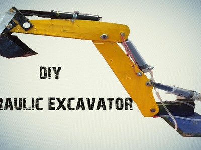 How To Make A Syringe Operated Hydraulic Excavator |jcb|