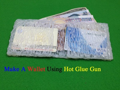 How to make a wallet using hot glue gun - Life Hacks hot glue gun