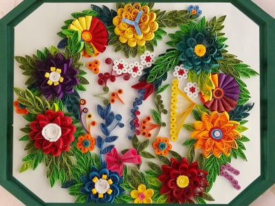 How to make Beautiful Quilling flower Designs | Wall Decorating Ideas |  Paper Quilling Art