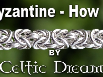How To Make Byzantine Chain Mail Bracelet - Best Tutorial in 1080 HD Macro