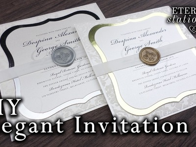 How to make elegant wedding invitations | DIY wax seal invitation
