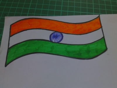 How to make independence day greeting card | How to make Indian Flag | Flag of India | Tiranga