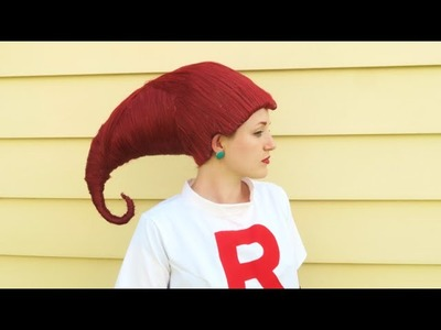 How To Make Jessie Hair Team Rocket Pokemon Cosplay!