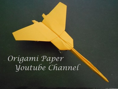 How To Make Paper Airplane - Easy Origami Jet Fighter | Origami Paper