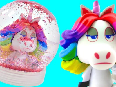 How To Make  Rainbow Unicorn Snowglobe | How To Make Fun DIY Crafts with Toys on DCTC