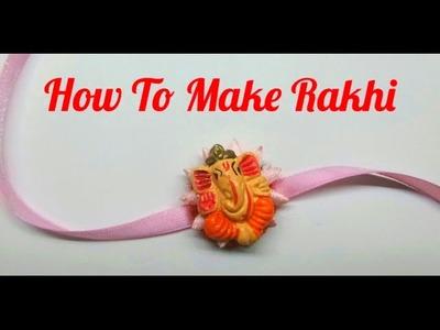 How to make Rakhi at home.DIY Rakhi making. Simple and easy Rakhi making. Indian Rakhi Designs.