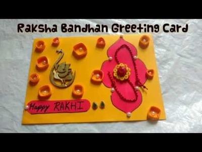 How To Make Raksha Bandhan Greeting Card | Rakhi Card Making | Craftlas