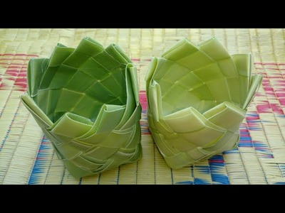 How to Make Small Basket with Palm Tree Leaves