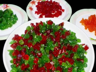 How to make TUTTI FRUTTI at home || Candied fruit | DIY Papaya Tutti Frutti