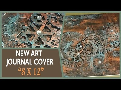 How to: Mixed Media Art Journal Cover