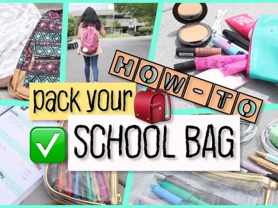 How-To: Pack Your School Bag 2016 | Back To School 2016