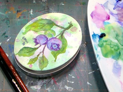 How To Paint on a Tin with Watercolors
