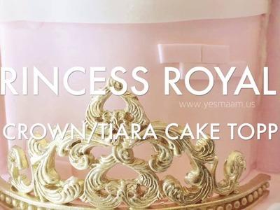 How To: Princess Crown. Tiara Fondant Cake Topper (12.30)