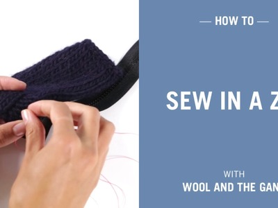 How to sew in a zip