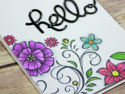 How To Stamp Several Floral Backgrounds
