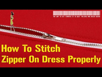 How To Stitch Zipper On Any Dress In Hindi