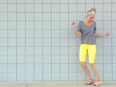 How to turn Pants into SHORTS. and How to Hem Pants, Shirts, Dresses, and Skirts