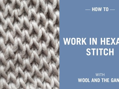 How to work in hexagon stitch