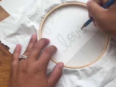 Learn Hand Embroidery: How to Transfer Pattern