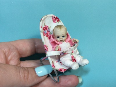 MINIATURE TUTORIAL - DOLLHOUSE BABY Bouncy Chair - HOW TO MAKE VIDEO
