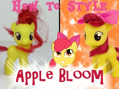 MLP Apple Bloom Hair Styling Tutorial. How to Style My Little Pony  Apple Bloom | MLP Fever