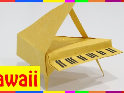 Origami Piano - How To Fold Piano ( Origami Hawaii )