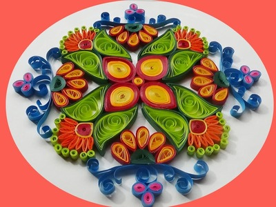 Paper Quilling |  How to make Beautiful rangoli Designs at home?