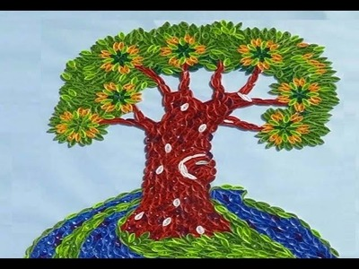Paper Quilling  : How to make Beautiful Quilling Tree - Part 1 (Tutorial)