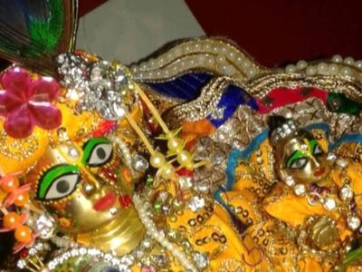 Part 2 - How to do shingar of krishna. bal gopal. ladoo gopal. thakurji. kanha ji