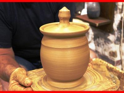 Pottery throwing - How to Make a Honey pot Honey Jar #72