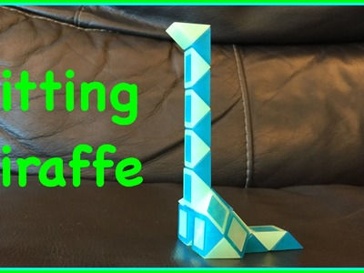 Rubik's Twist or Smiggle Snake Puzzle Tutorial: How to Make a Sitting Giraffe Shape Step by Step