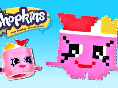 Shopkins Challenge - Suzi Sushi - How To Make DIY Shopkins Crafts out of Perler Beads with DCTC