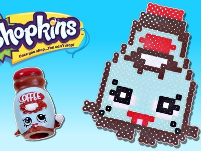 Shopkins Challenge - Toffee Coffee - How To Make DIY Shopkins Crafts out of Perler Beads with DCTC