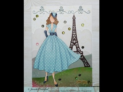 A Paper Doll in Paris | Art Journal Page