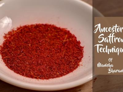 Ancestors Saffron Technique  - How to Retain Colour & Flavor From Zaffran - Unique Tip Recipe.