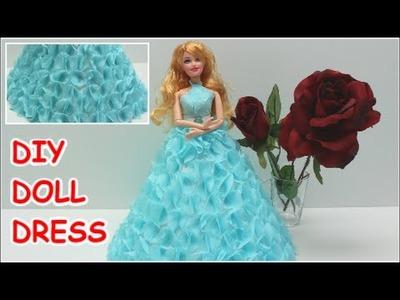 Cinderella Doll Dress from Crepe Paper - Doll Dress Fun