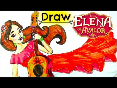 Disney ELENA OF AVALOR Learn How to Draw a NEW PRINCESS