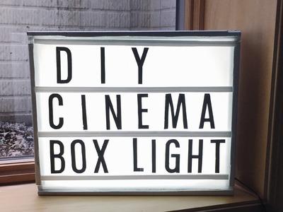 DIY CINEMA LIGHT BOX