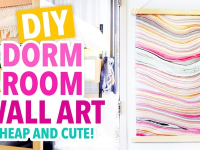 DIY Inexpensive Dorm Room Wall Art - #DormRoomTakeover - HGTV Handmade