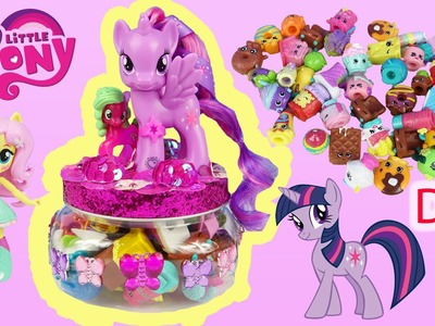 DIY MY LITTLE PONY Twilight Sparkle Shopkins Storage Collection Jar Decorate Flower Wishes Toy Video