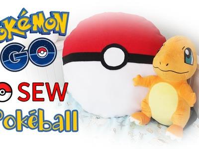 DIY Pokemon GO Pokeball Pillow (NO SEW) | Room Decor
